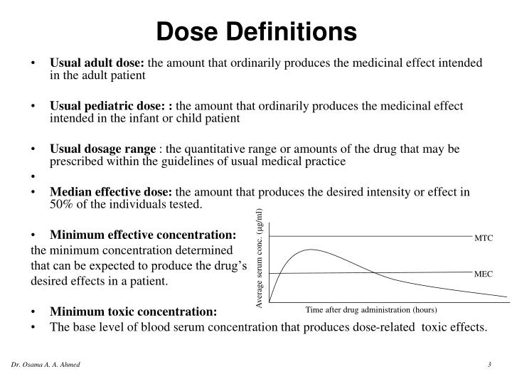 Dose definitions1