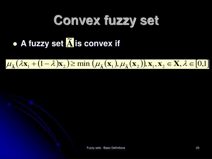 Convex fuzzy set