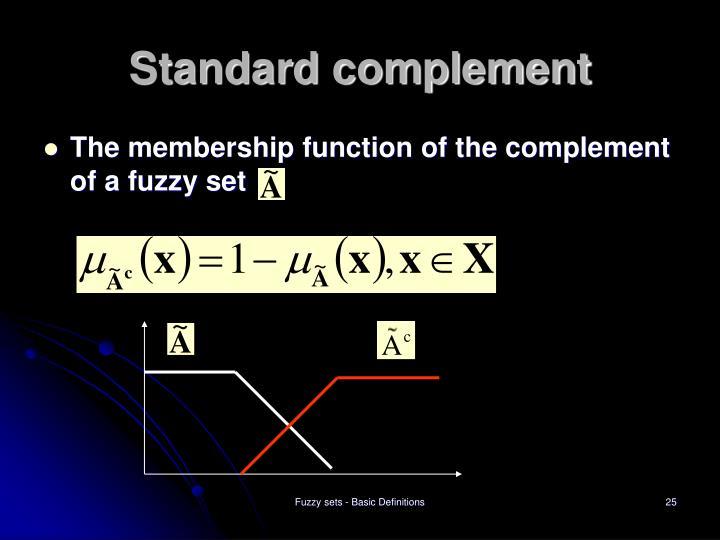 Standard complement