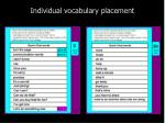 individual vocabulary placement3
