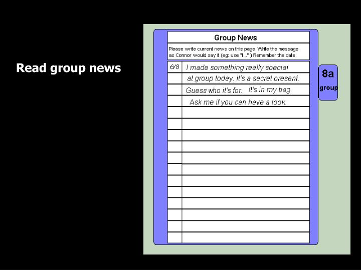 Read group news