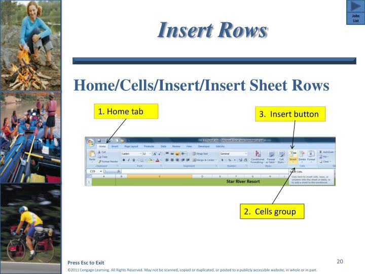 Insert Rows