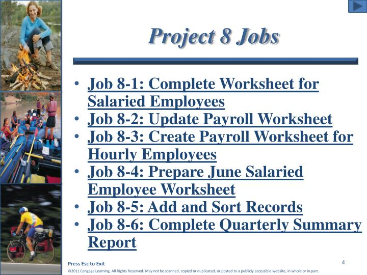 Project 8 Jobs
