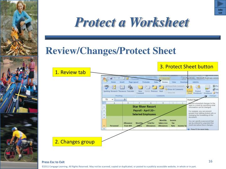 Protect a Worksheet