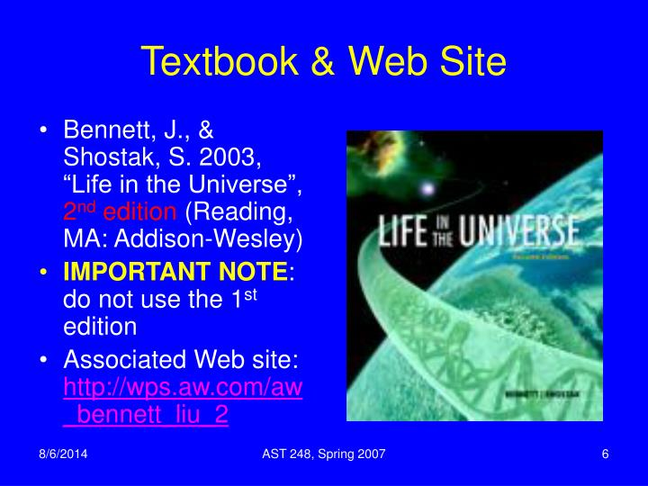 Textbook & Web Site