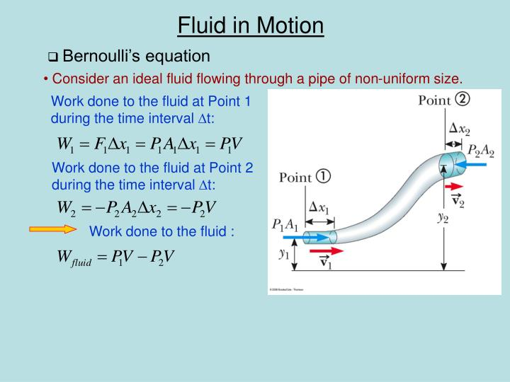 Bernoulli's equation