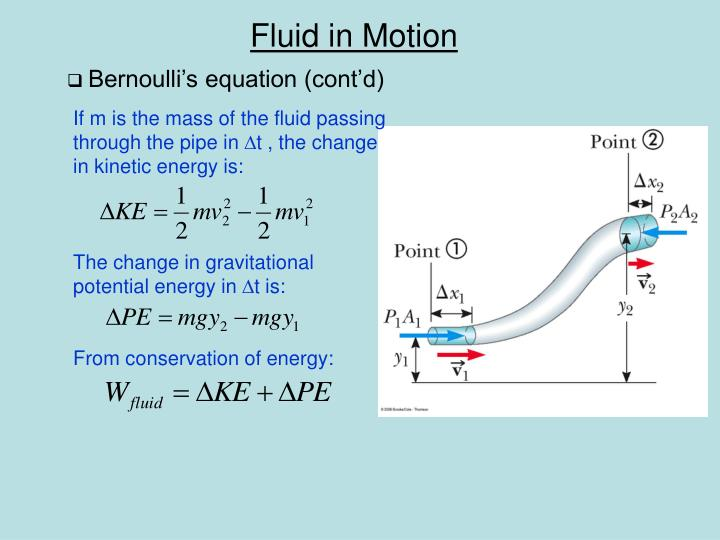 Bernoulli's equation (cont'd)