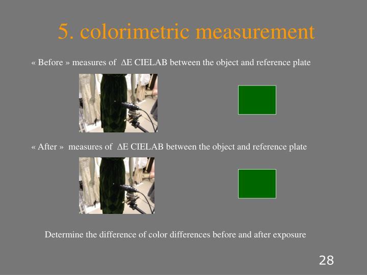 5. colorimetric measurement