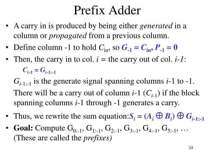 Prefix Adder