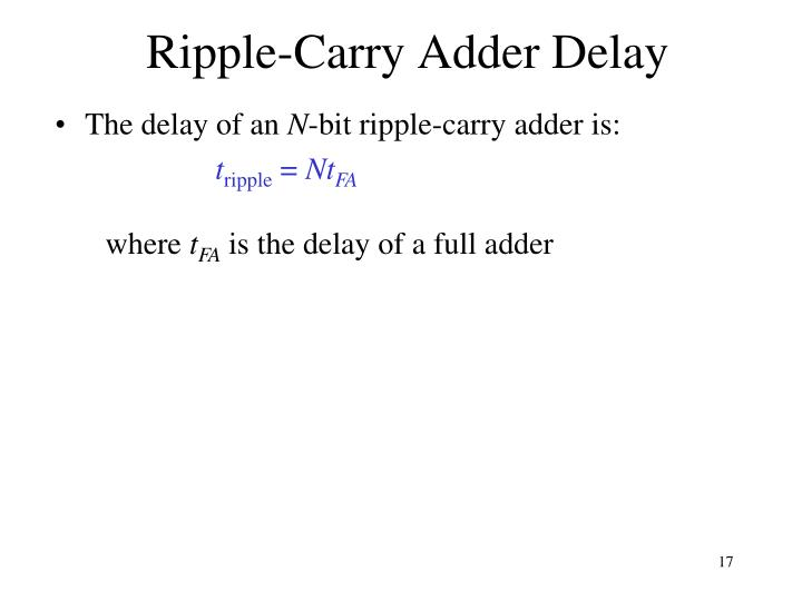 Ripple-Carry Adder Delay