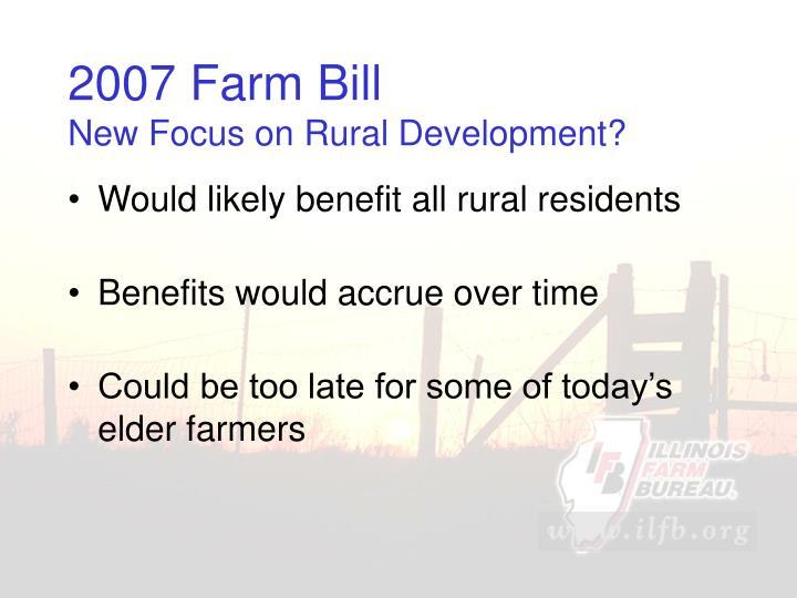 2007 Farm Bill