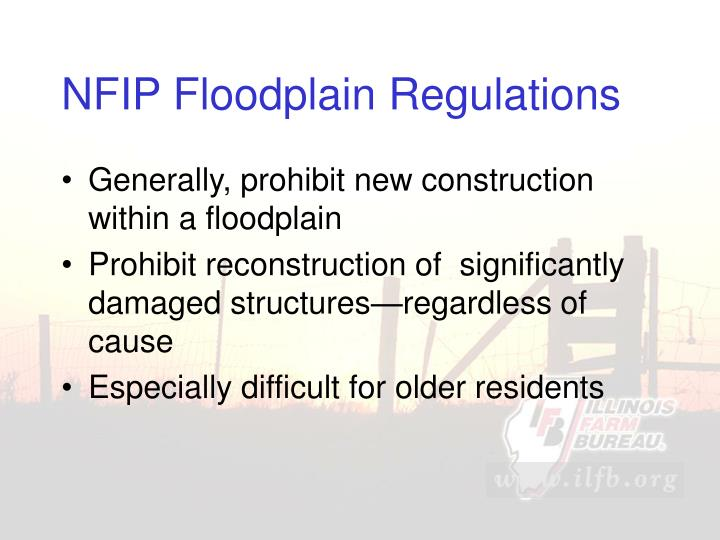 NFIP Floodplain Regulations