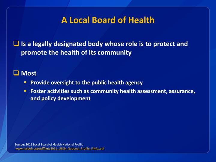 A Local Board of Health