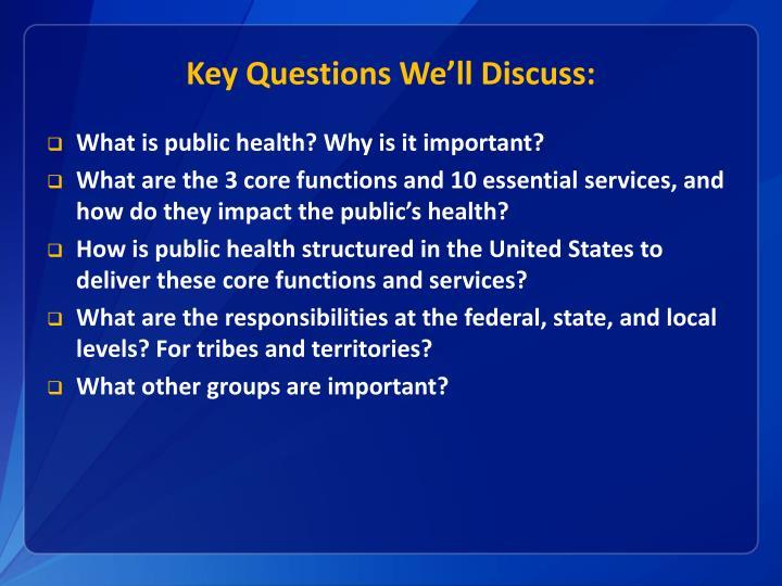 Key Questions We'll Discuss: