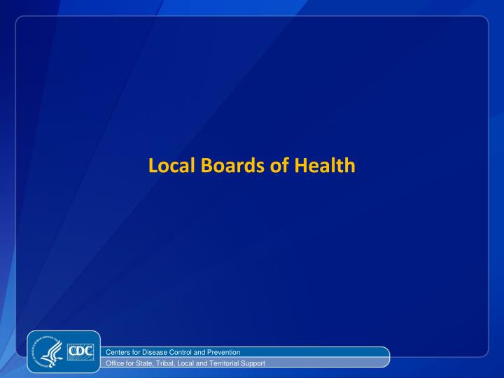 Local Boards of Health