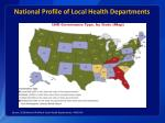 national profile of local health departments