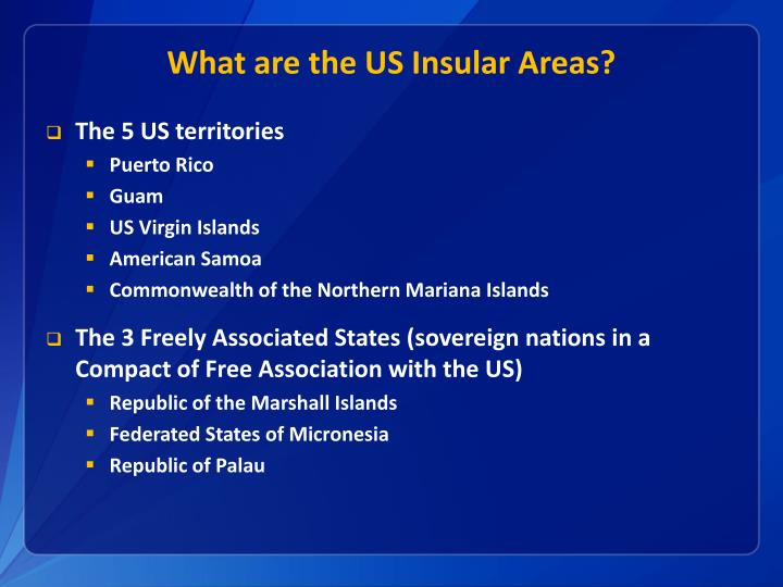 What are the US Insular Areas?
