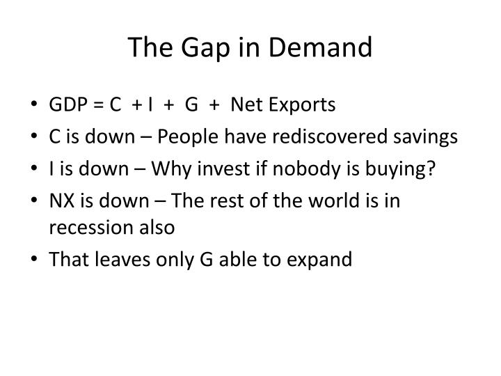 The Gap in Demand
