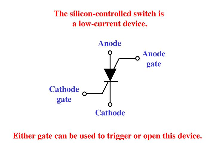 The silicon-controlled switch is