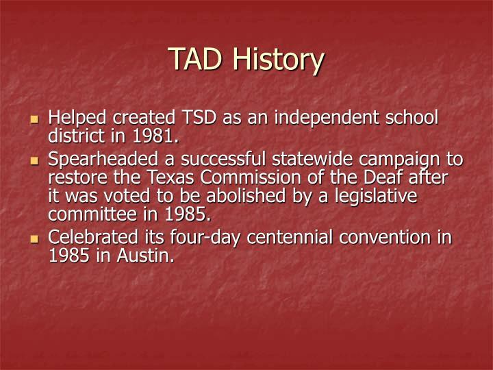 TAD History