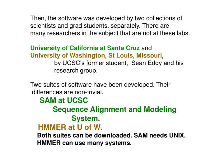 Then, the software was developed by two collections of