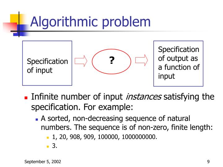 Algorithmic problem