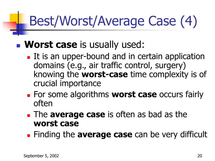 Best/Worst/Average Case (4)