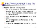 best worst average case 4