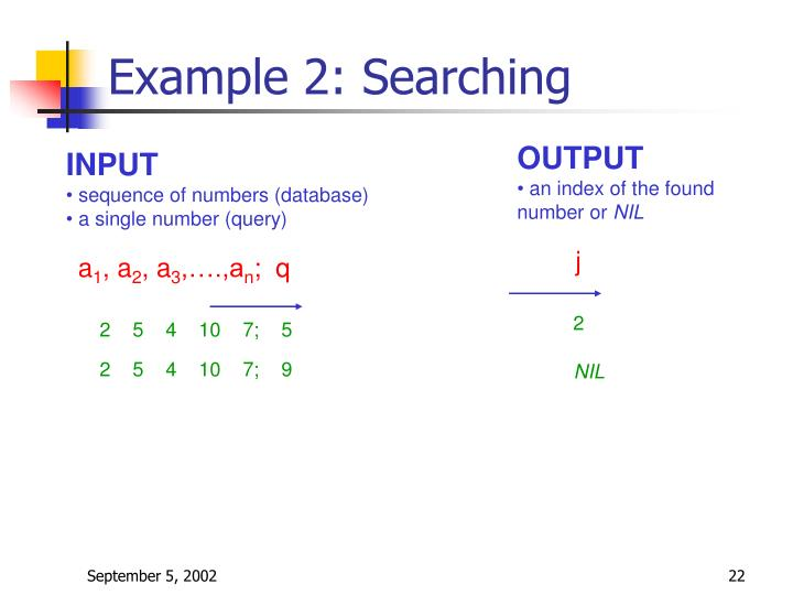Example 2: Searching