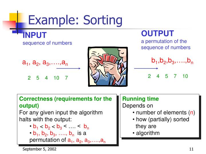 Example: Sorting