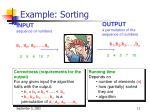 example sorting