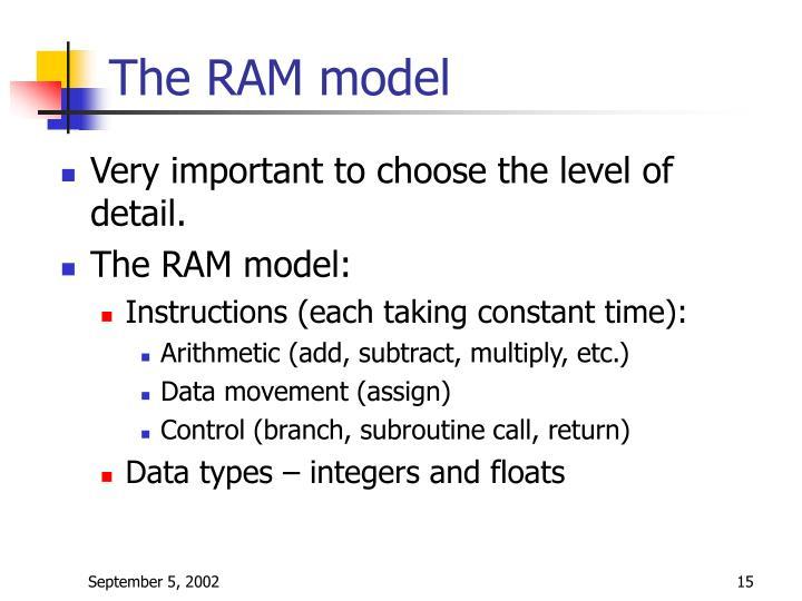 The RAM model