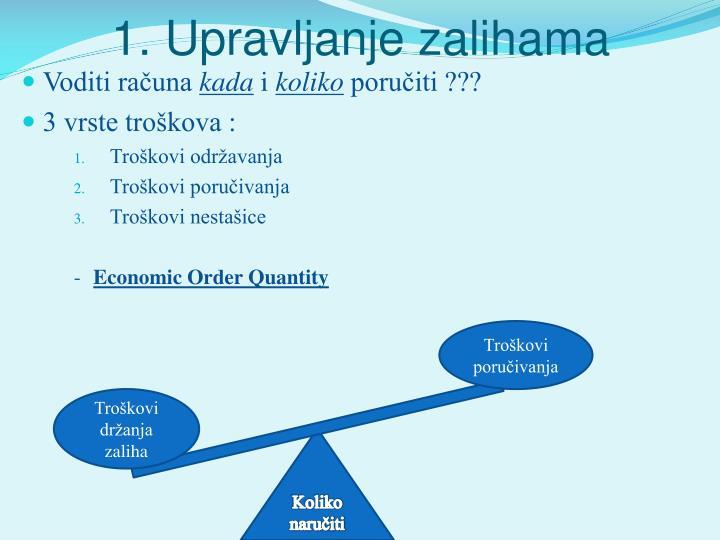 1. Upravljanje zalihama