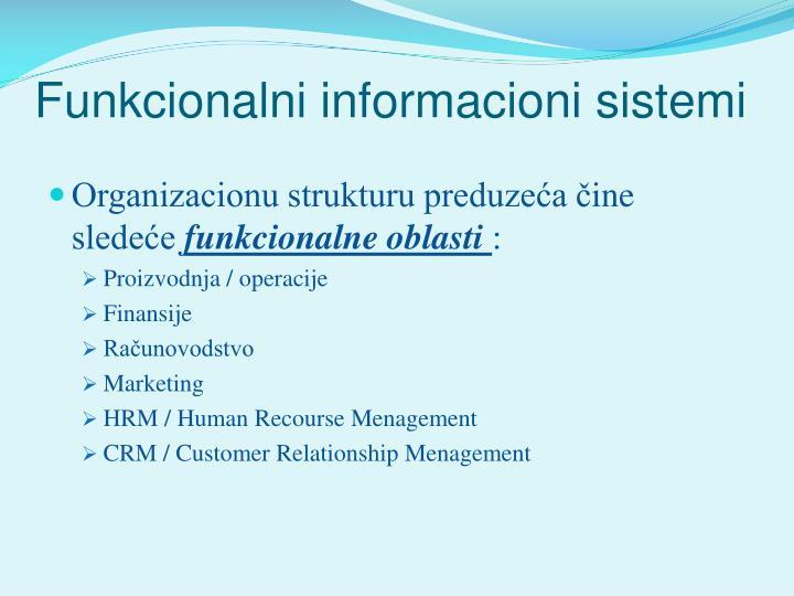 Funkcionalni informacioni sistemi