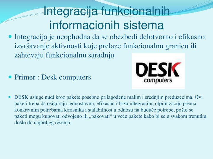 Integracija funkcionalnih informacionih sistema
