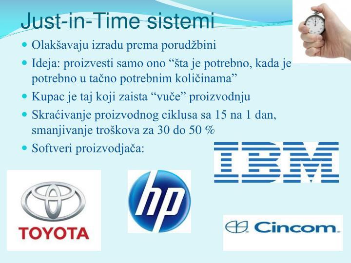 Just-in-Time sistemi