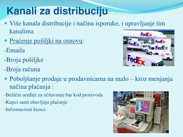 Kanali za distribuciju