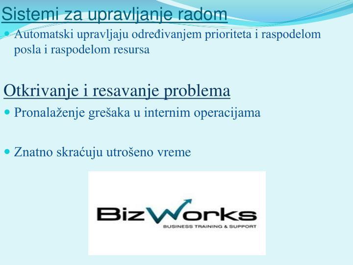 Sistemi za upravljanje radom