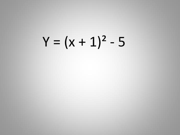 Y = (x + 1)² - 5
