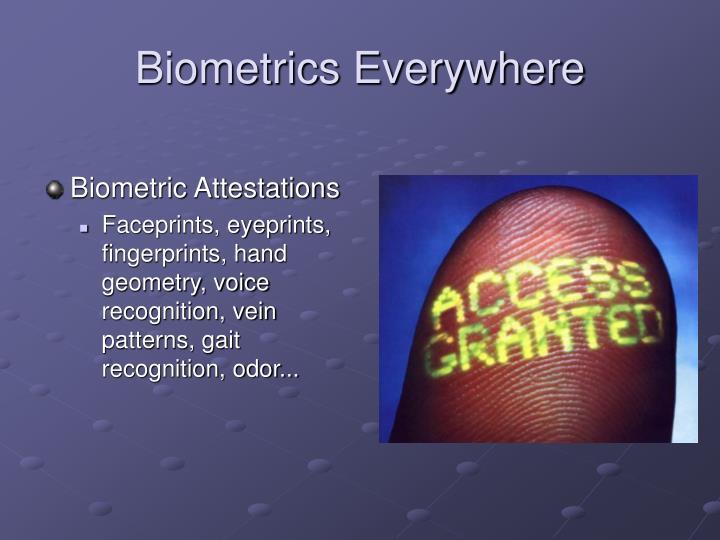 Biometrics Everywhere