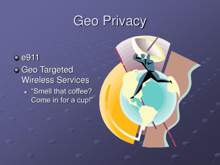 Geo Privacy