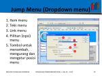 jump menu dropdown menu2
