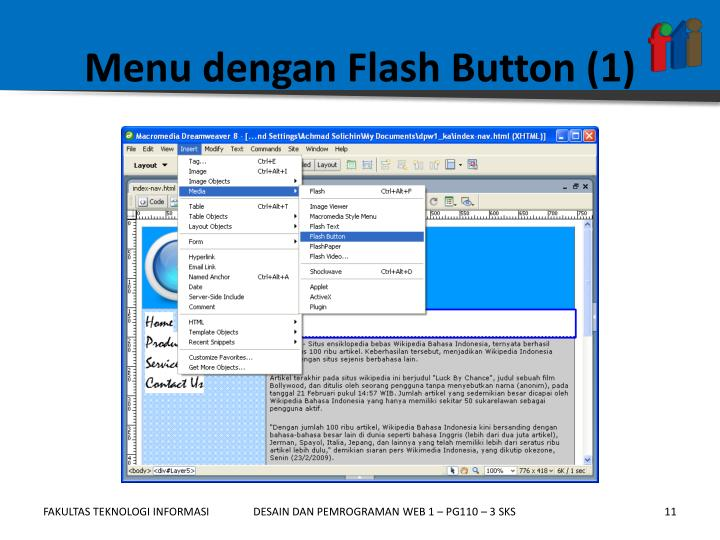 Menu dengan Flash Button (1)