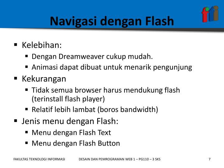 Navigasi dengan Flash