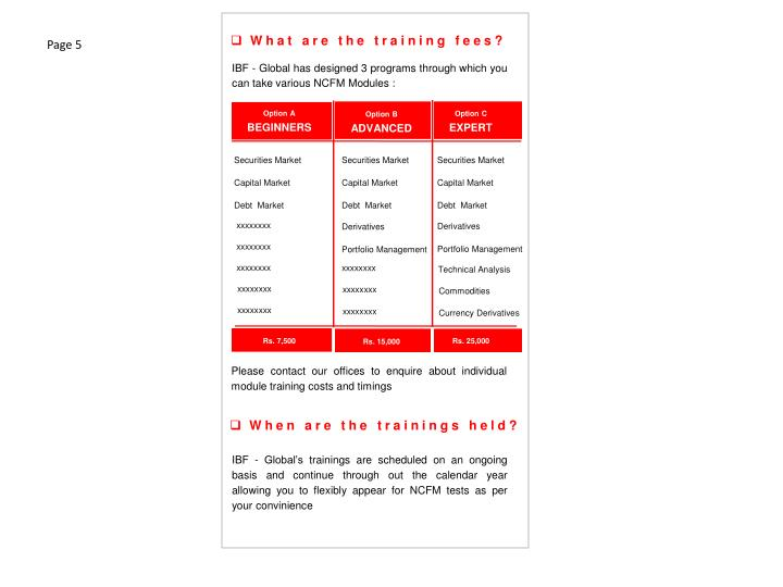 What are the training fees?