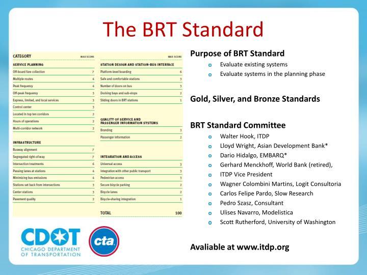 The BRT Standard