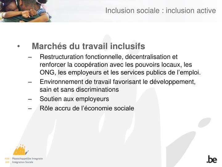 Inclusion sociale : inclusion active