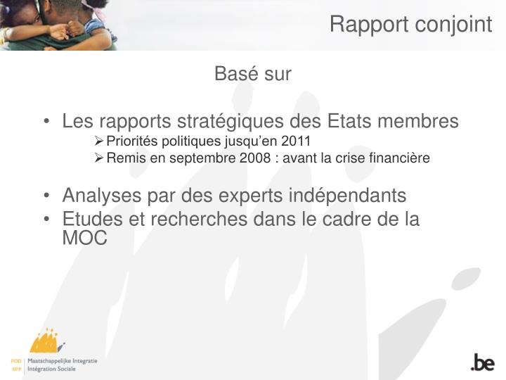 Rapport conjoint