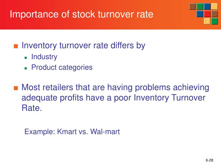 Importance of stock turnover rate
