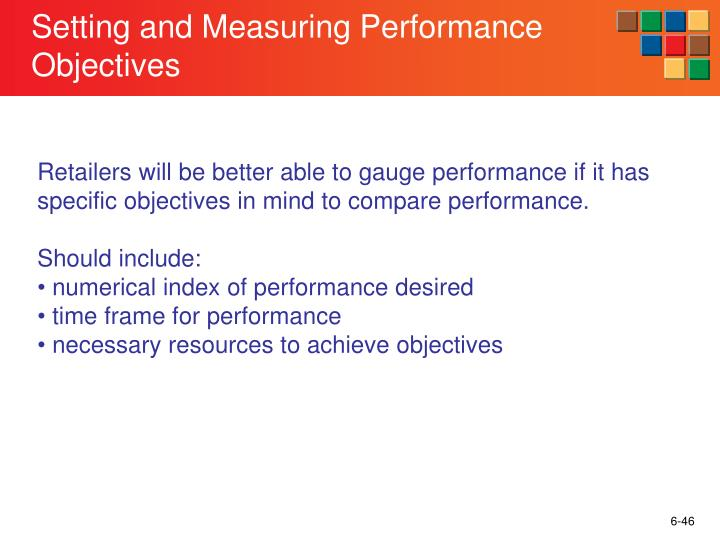 Setting and Measuring Performance Objectives